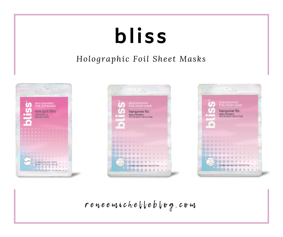 Bliss Holographic Foil Sheet Masks