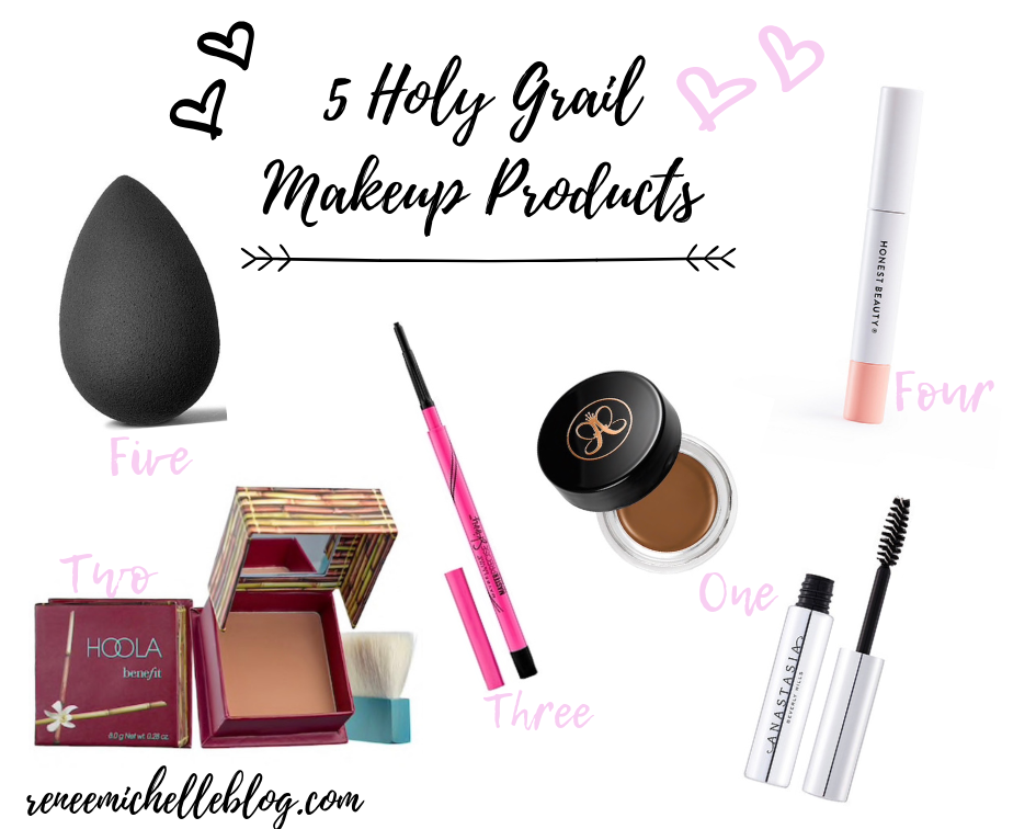 My 5 Holy Grail Makeup Products